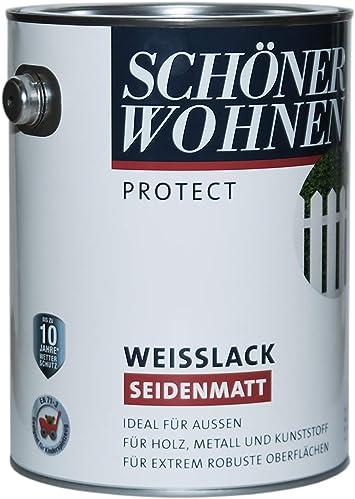 Schoner Wohnen Profidur Weisslack Seidenmatt 2 5l Amazon De Baumarkt