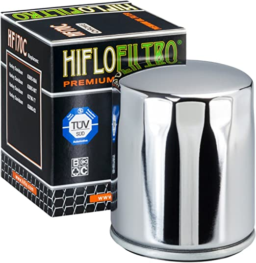 Ölfilter Chrom Hiflofilter Hf170c Harley Davidson Sportster Classic Softail Auto