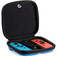 CASETHRONE Joy-Con Hard Case, Protective Carrying Bag for NS Joy-Con (L/R).Blue+Red