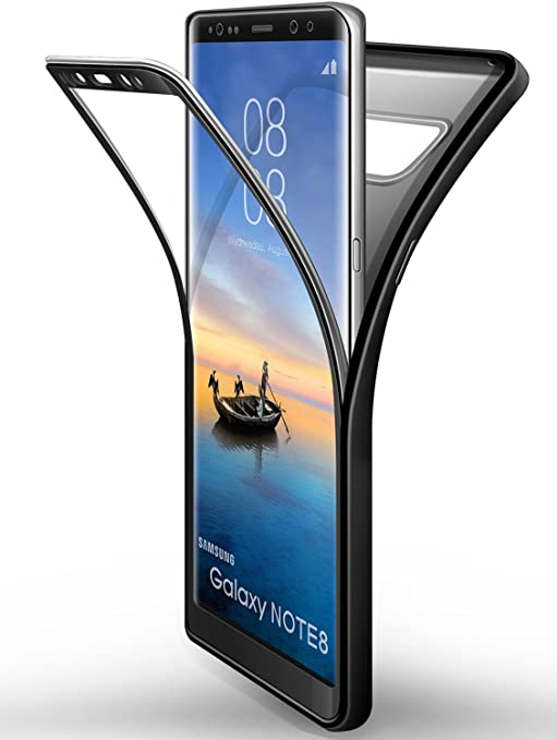 Funda Samsung Galaxy Note 8 Negro, ivencase Carcasa TPU [No Screen ...
