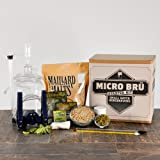 Micro Bru 1 Gallon All Grain Home Brewing Equipment Starter Kit with Hop Monster IPA Beer Recipe Kit