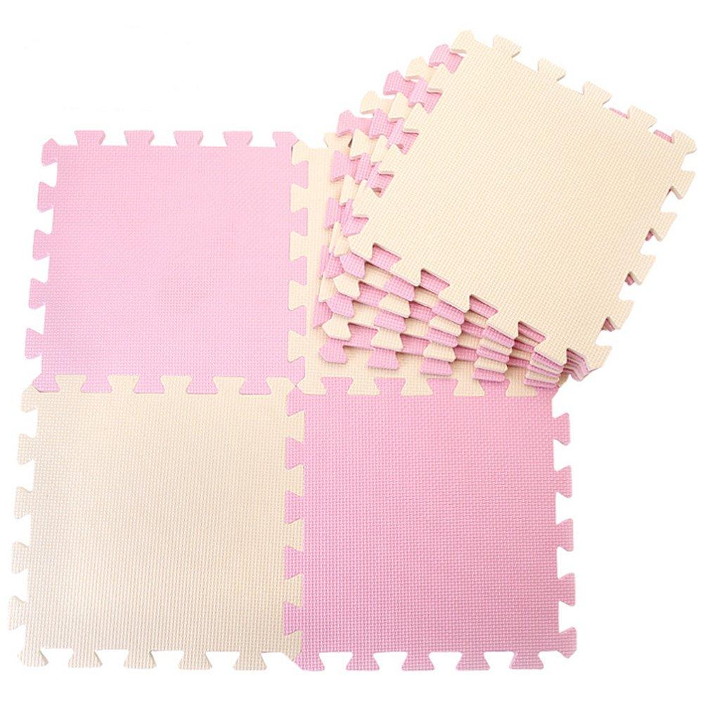 10tlg. Rosa + Rot Farbe Kinder weiche Böden Puzzle Matten für Kinder ...