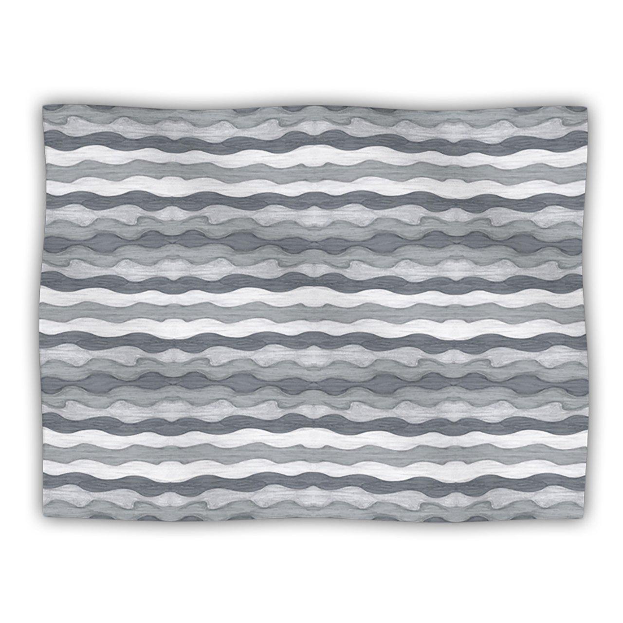Kess InHouse Empire Ruhl ''51 Shades of Gray'' Gray White Pet Blanket, 40 by 30-Inch