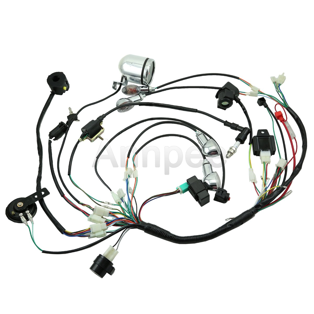 amazon annpee full electric start engine wiring harness loom 2009 Lifan 150Cc amazon annpee full electric start engine wiring harness loom 110cc 125cc quad bike atv buggy automotive