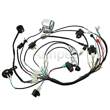 Amazon Com Annpee Full Electric Start Engine Wiring Harness Loom