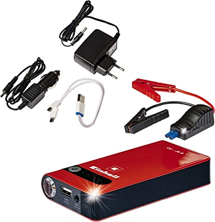 Einhell 1091510 Arrancador estación de energia, Rojo, 265 x 60 x 190 mm: Amazon.es: Coche y moto