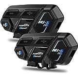 Motorcycle Bluetooth Intercom, Fodsports M1S Pro 2000m 8 Riders Group Motorbike Helmet Communication System Headset…