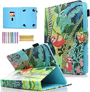 """Universal 8.0"""" Tablet Case, AMOTIE Wallet Stand Cover w/Credit Card Slots for iPad Mini 1 2 3 4 5/ Galaxy Tab E 8.0/ Tab A 8.0/ Fire HD 8/ Lenovo/RCA and More 7.0-8.5 inch Tablet, Koala"""