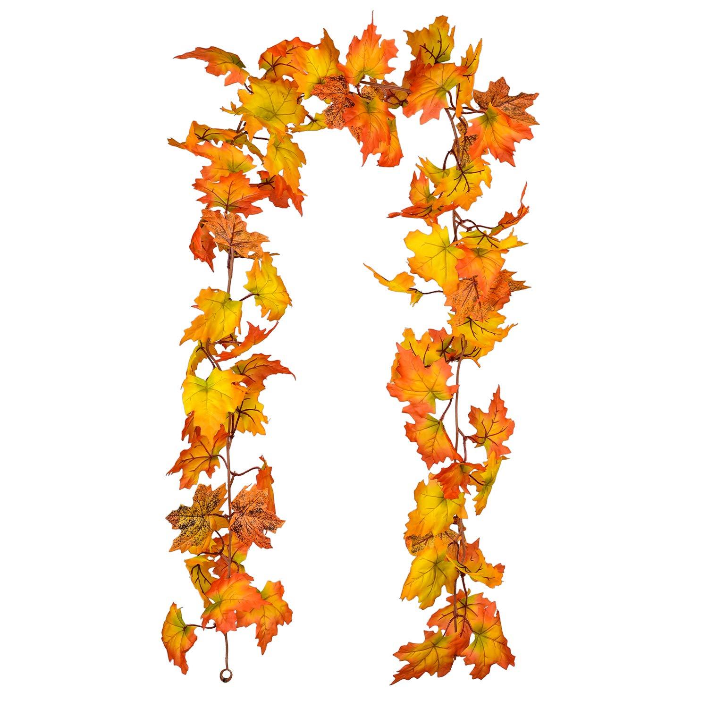 Fall Thanksgiving Maple Leaf Garland Decoration Decor 6FT