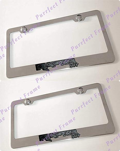 2X Mercedes Benz Blue Logo 3D Emblem Stainless Steel License Plate Frame W// Caps