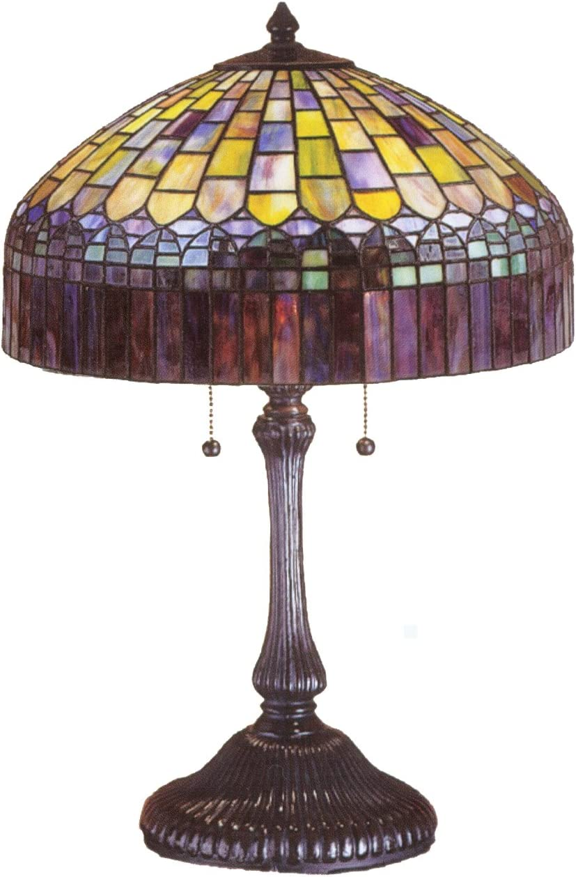 Meyda Home Indoor Bedroom Decorative 24 H Tiffany Candice Table Lamp
