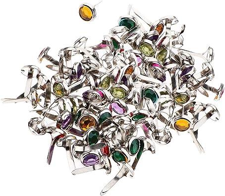 50 Stück Farbe Sortiert Strasskopf mini Metall Brads Für Scrapbooking