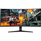 "LG Ultragear 34GL750-B 34"" Curved WFHD IPS Gaming Monitor, 5ms (GTG) 1ms (MBR), 144Hz, HDMI, G-Sync Compatible, HDR10…"