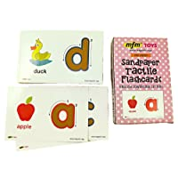 MFM TOYS Sandpaper Tactile English Letters Flashcards (Lowercase)