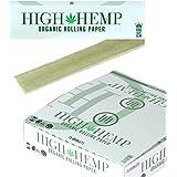Full Box 25 Booklets High Hemp Organic Rolling Paper - King Size Slim