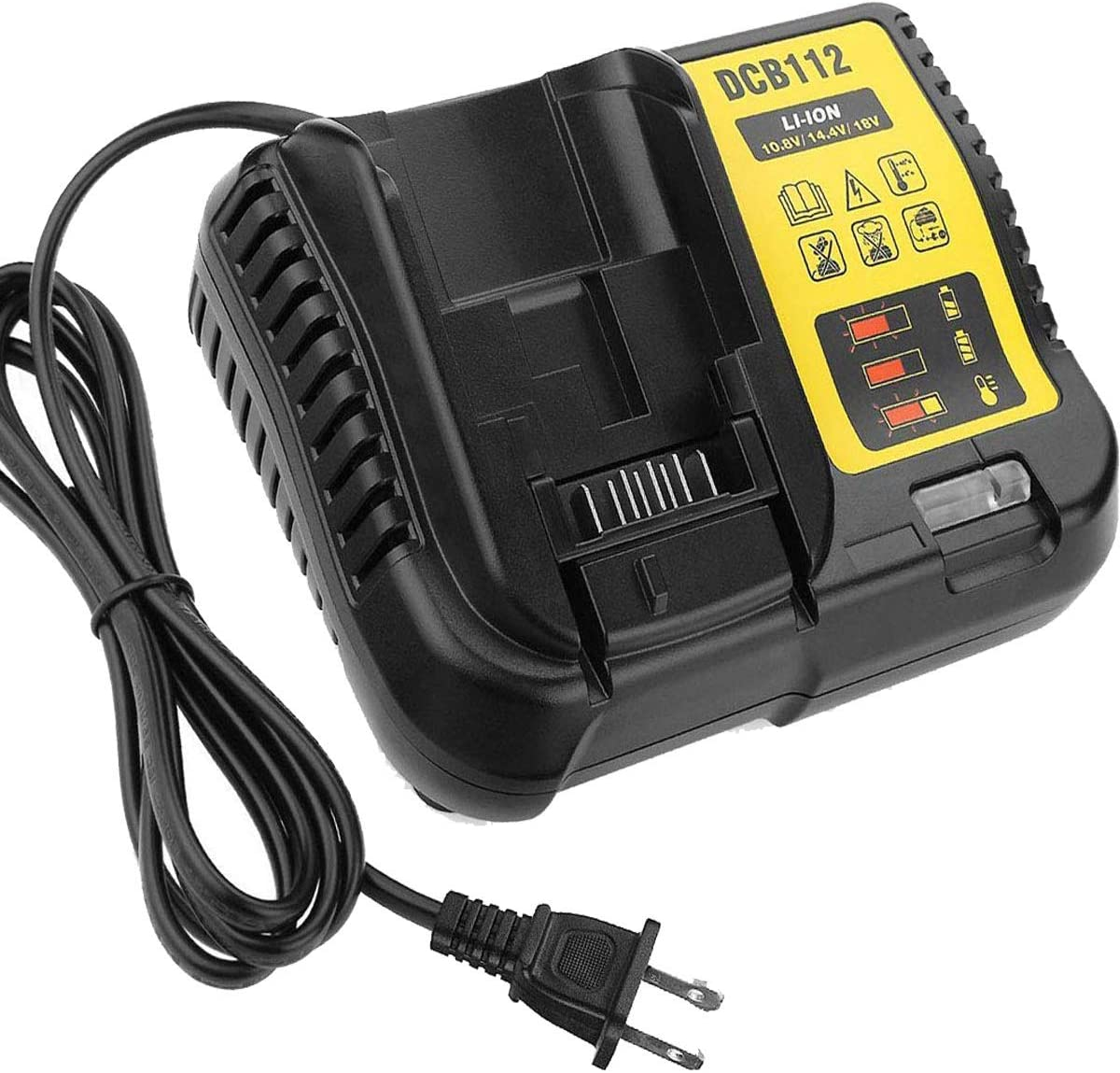 DCB105 Replacement Charger for Dewalt 12V//20V MAX Lithium Battery Compatible with DCB101 DCB115 DCB107 DCB205 DCB203 DCB204 DCB206 DCB201 DCB120 DCB127 Compact Drill Driver Batteries