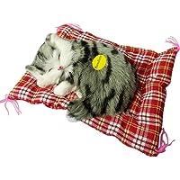 FnieYxiu Plush Dolls, Stuffed Toys Sleeping Cat Plush Stuffed Toy Press Simulation Sound Animal Cute Doll Kids Gift
