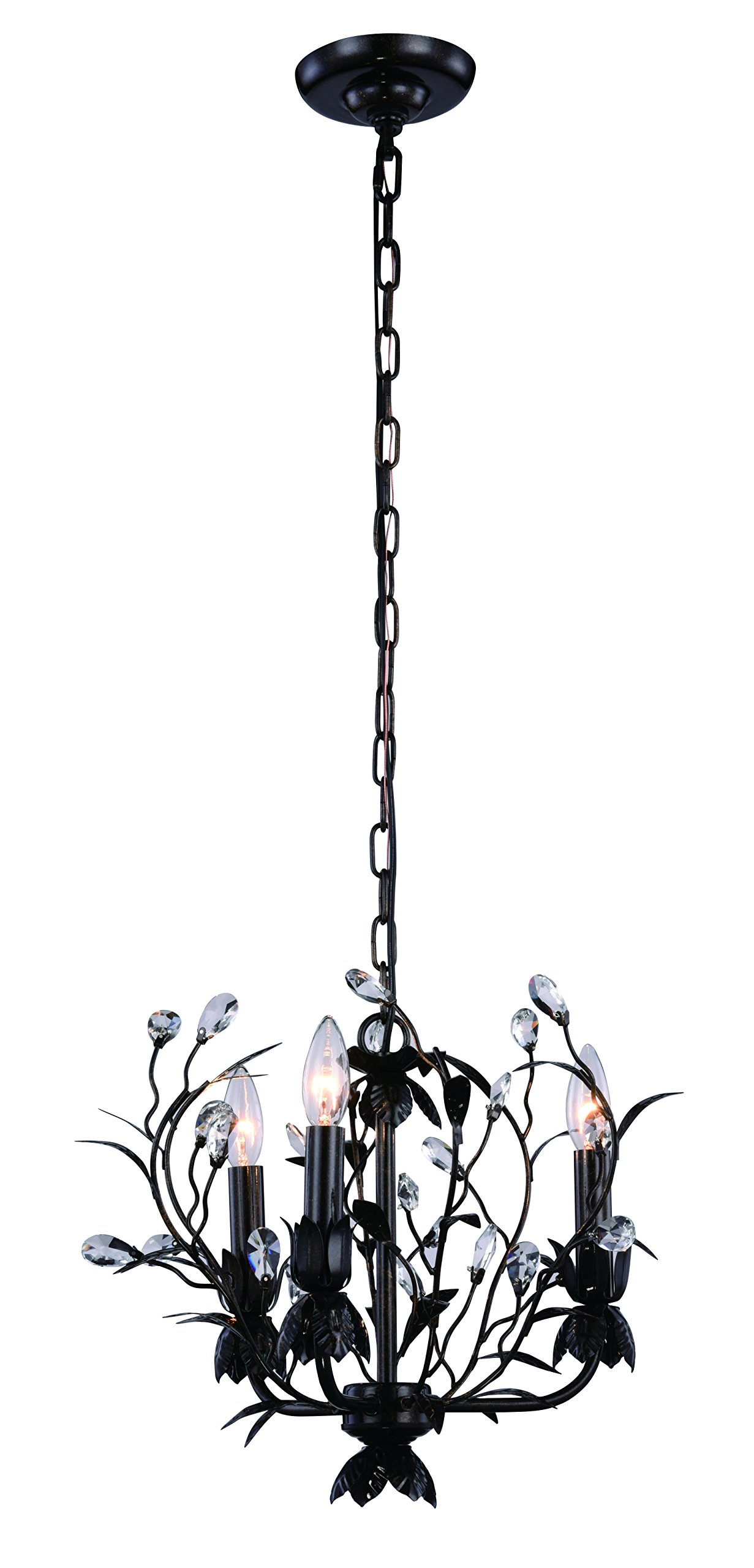 Arbor Collection Pendant Lamp D:14In. H:13In. Lt:3 Golden Dark Bronze Finish by Urban Classic (Image #1)