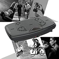 ISE Fitness Plateforme Vibrante Oscillante avec Bluetooth,USB,Télécommande,Grande Surface Anti-Dérapante 740 x 42 cm avec 2 Bandes de Résistance, 5 Programme & 99 Niveaux de Vitesse,Max.150KG,SY-329