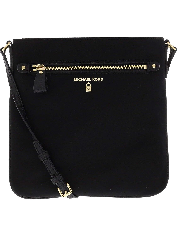 62cf51c8ba93 MICHAEL by Michael Kors Kelsey Black Nylon Large Crossbody Bag
