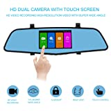Amazon Price History for:SENDOW Mirror Dash Camera 4.5 Inch IPS Touch Screen1080P Full HD Resolution 6G Glass Lens with Rearview Backup Camera Dual Lens Vehicle Dashboard Recorder DVR Parking Monitor G-Sensor Loop Recording