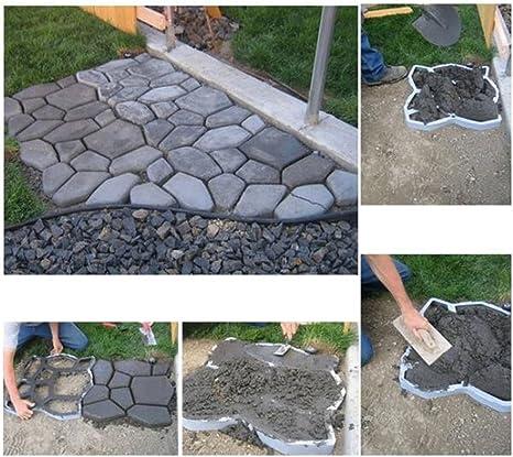 MCTECH DIY Pathmate Hormigón Forma Jardín Plástico Path Pavimento ...