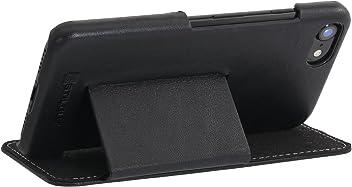 """StilGut Book Type Case, con Clip e con Funzione Supporto, Custodia in Pelle Cover per iPhone 8 e iPhone 7 (4,7"""") Chiusura a Libro Flip-Case, in Vera Pelle"""