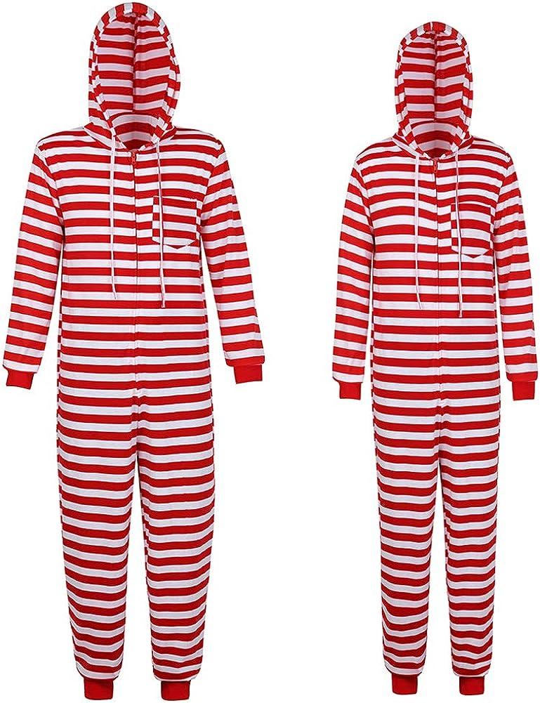 Haorugut Family Christmas Pajamas Set Christmas Onesie Adult Couples Christmas Pajamas