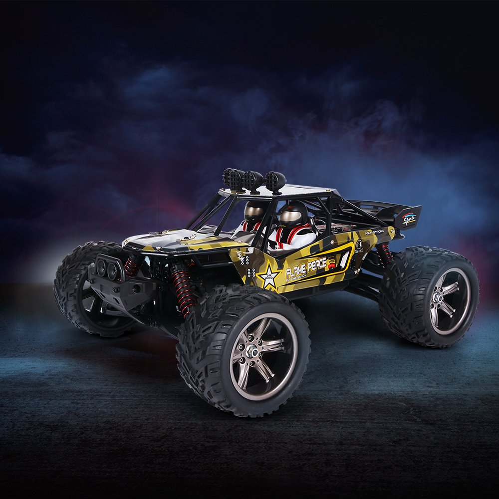 GPTOYS RC Cars 26Mph Remote Control Truck 1/12 2.4 GHz 2WD Off-Road Monster S916 (New Version)