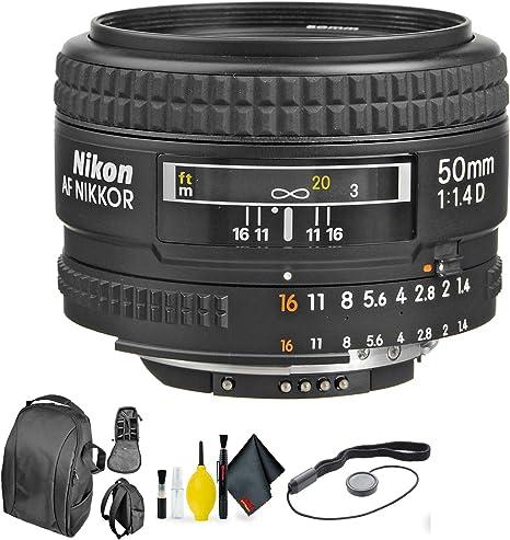 NIKON AF50MM F1.4 Lente D(52) + Kit de Limpieza de Lente: Amazon ...