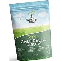 Comprimés de Chlorelle BIO - Riches en chlorophylle, protéines, fer et acides aminés - Les comprimés de chlorella bio à paroi cellulaire brisée, certifiés du Royaume-Uni par TheHealthyTree Company