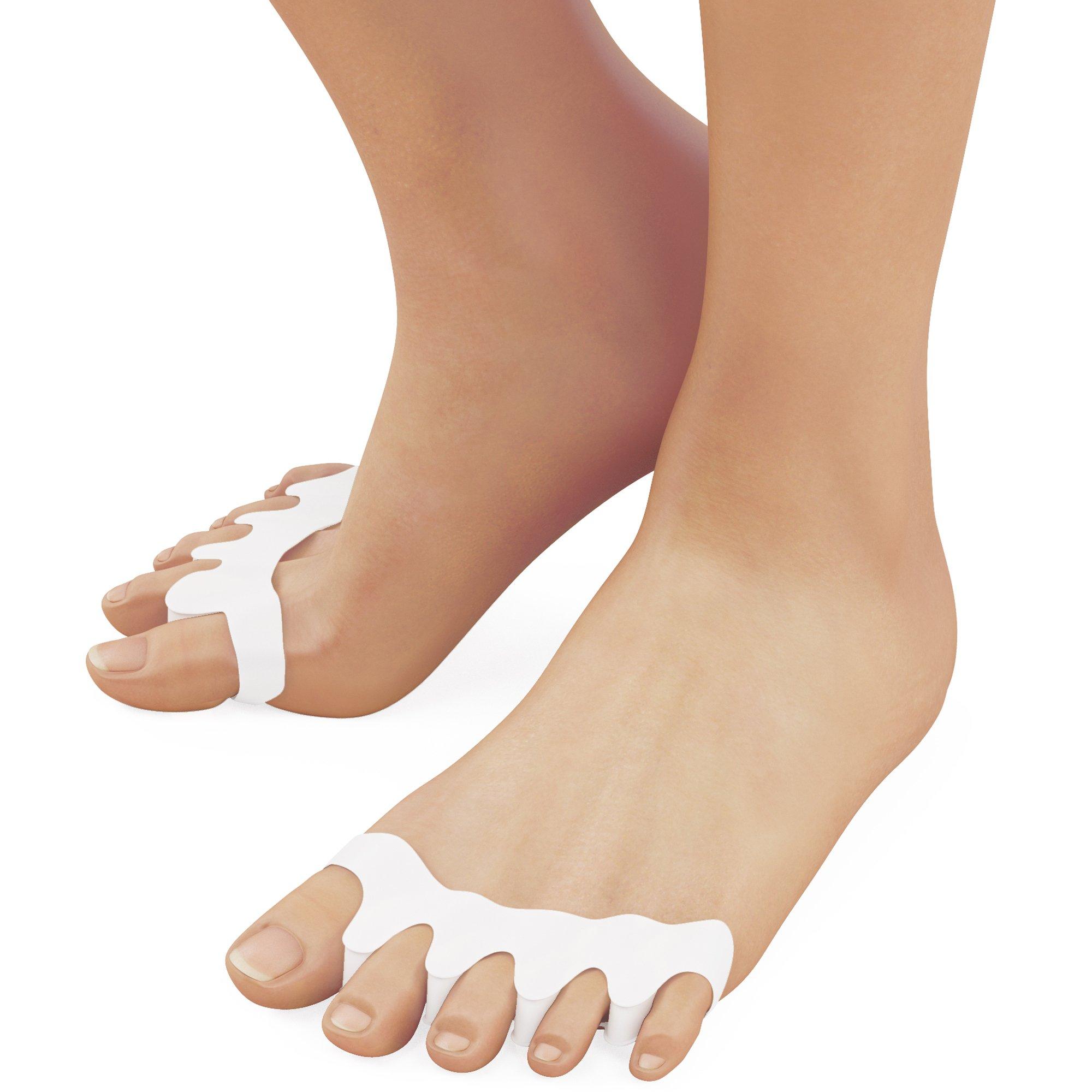Toe Separators - Toe Straightener - Toe Spacers - Correct Toes - Gel Toe Separator - Toe Separators for Bunions - Hammer Toe Straightener - 3 Pairs - Ballotte