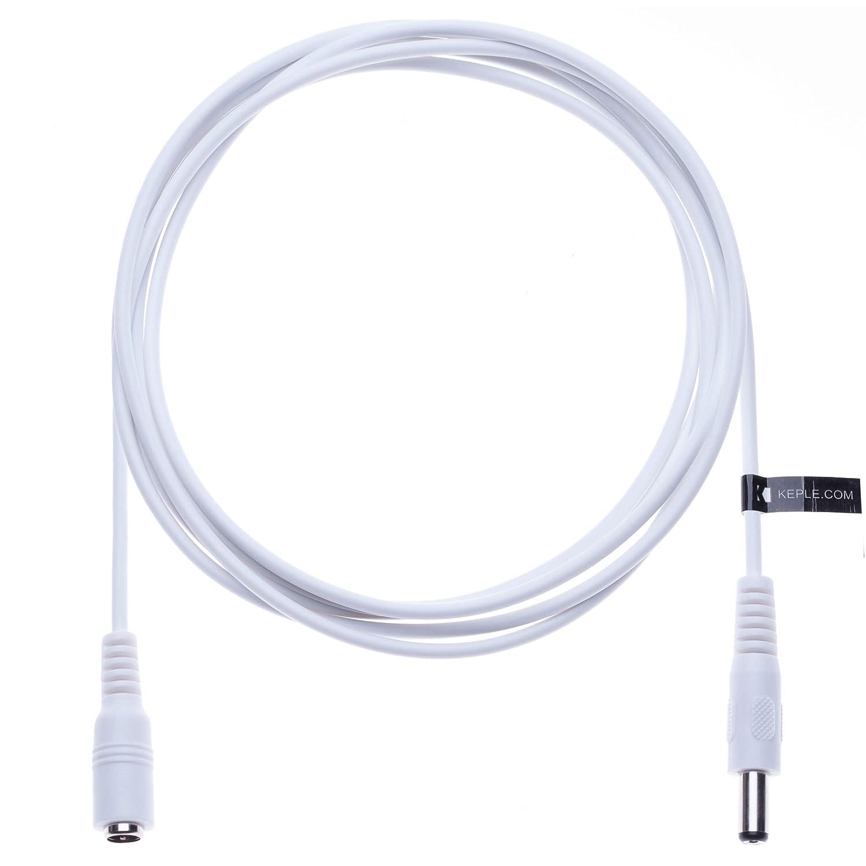 IP Camera DVR Standalone Cable de Extensi/ón de Alimentaci/ón de CC DC 2.1mm // 5.5mm Jack 5m/Conector CCTV Adaptador de Cable de Alimentaci/ón Compatible con CCTV Security Camera LED Strip Monitores