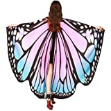 Zylione Shawl,Soft Fabric Butterfly Wings Shawl Fairy Ladies Nymph Pixie Costume Accessory Wraps Cape