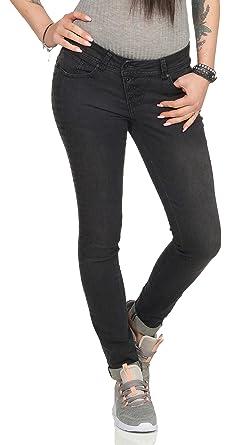 9f032fb3da3e Buena Vista Malibu Stretch Denim Damen Jeans mit dekorativer ...