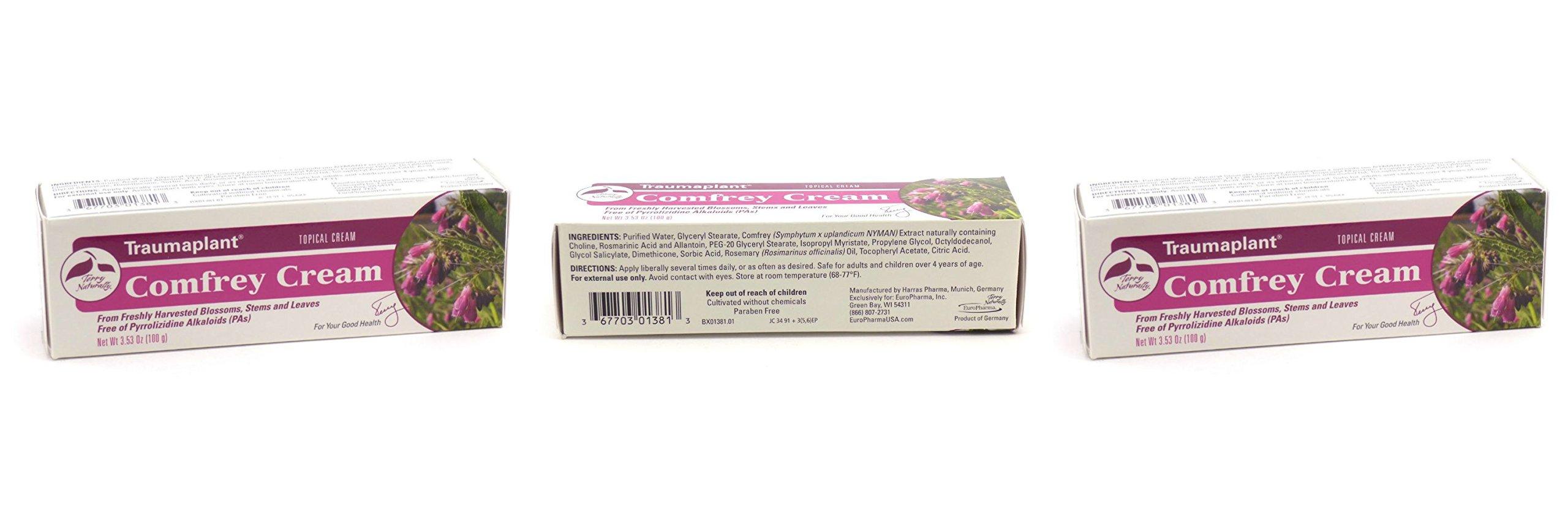 Europharma Terry Naturally Traumaplant Comfrey Cream 100 Grams - 3.53 oz - 3 Pack