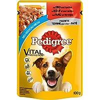Pedigree Vital Protection hondenvoer in zak, hondenvoer als paté met rundvlees en wortelen, 24 x 100 g grote verpakking