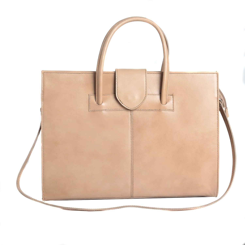 Femme Handbag daffaires Made in Italy 40x30x10 cm Cartel Chicca Borse Porte-documents en cuir italien