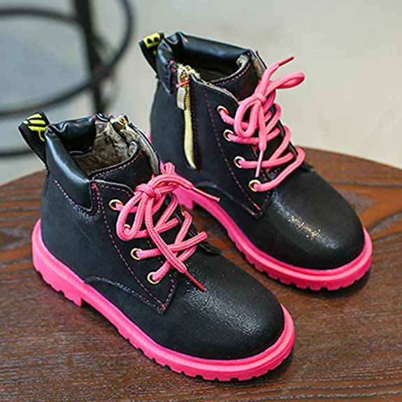 Children Girls Martin Sneaker, For 4-7 Years Old Kids, Princer Winter Zip  Thick Snow Shoes: Amazon.co.uk: Shoes & Bags