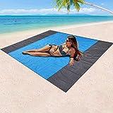 Mumu Sugar Sand Free Beach Blanket, Extra Large Waterproof Beach Mat-Lightweight Quick Drying Heat Resistant Outdoor Picnic m