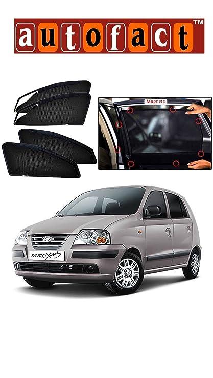 Autofact Car Accessories Zipper Magnetic Sunshades Hyundai Santro
