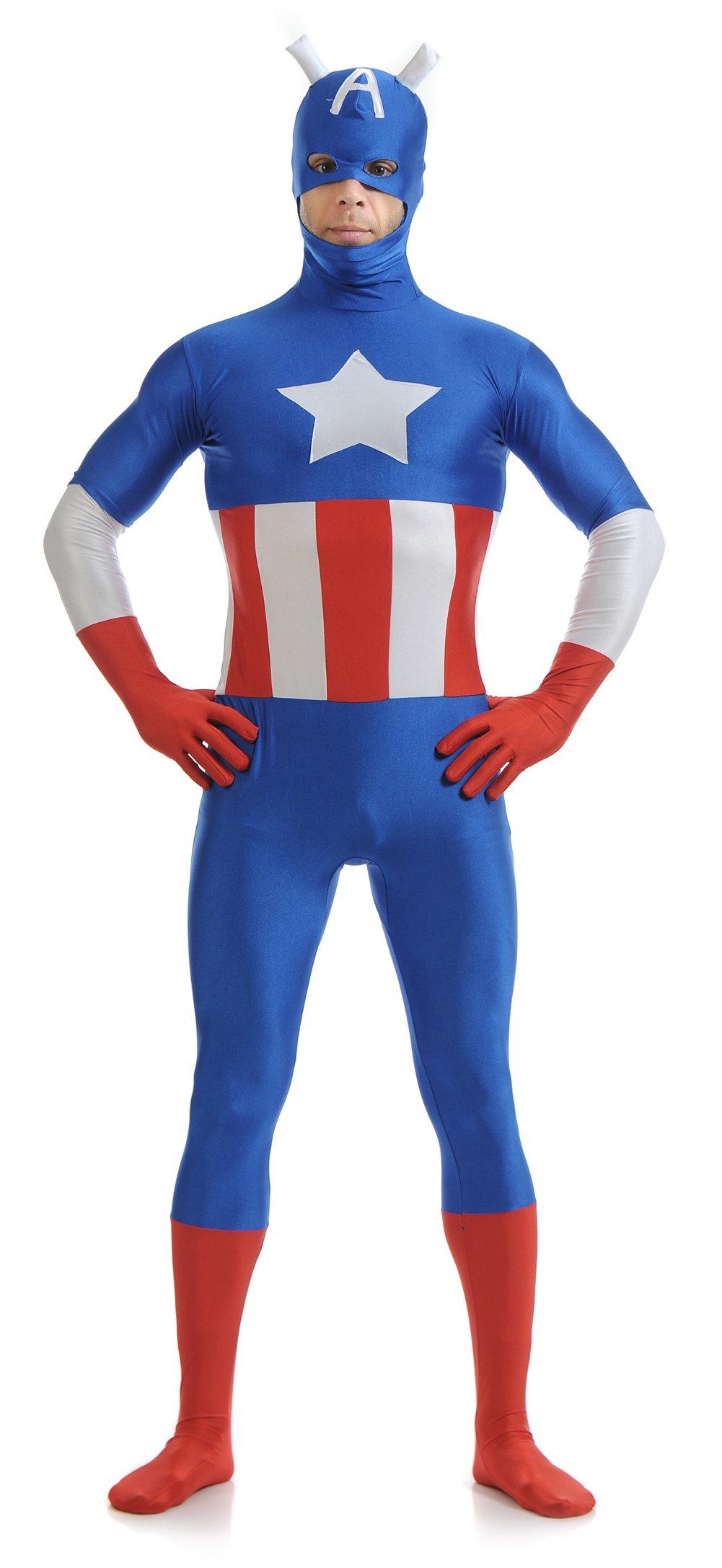 - 71TNv2Rq7aL - Jolly Costumes Lycra Zentai Elastic Bodysuit Men Cosplay Costume Audlt/Kids