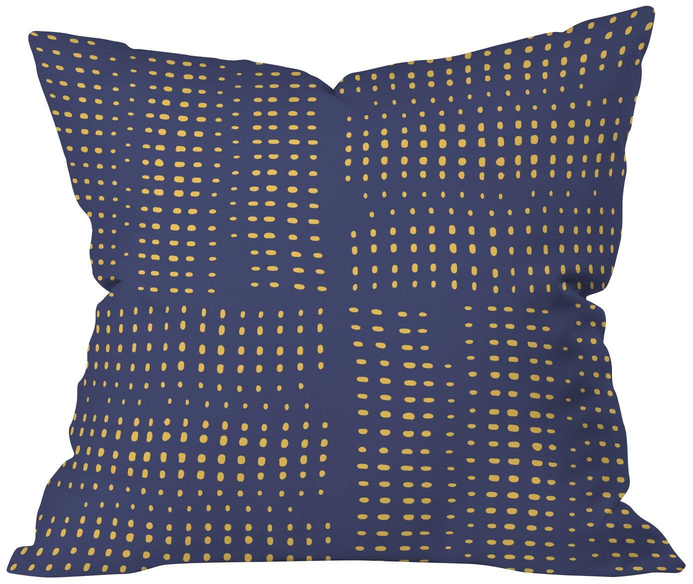 Deny Designs Zoe Wodarz Geo Pop Deer Blue Throw Pillow 18 x 18