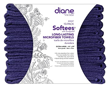 Amazon.com : Diane Softees 45027 S Towel, Navy : Hair Drying Towels : Beauty