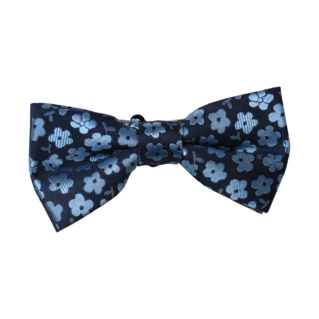 Navy Scattered Flowers Kids Bowtie DaCee Designs Accessories AGBT0029NV