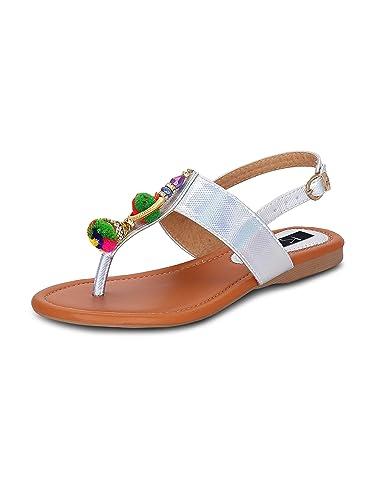 8b2d109fda0c24 Kielz Black Flat Back Strap Women s Sandals  Buy Online at Low Prices in  India - Amazon.in