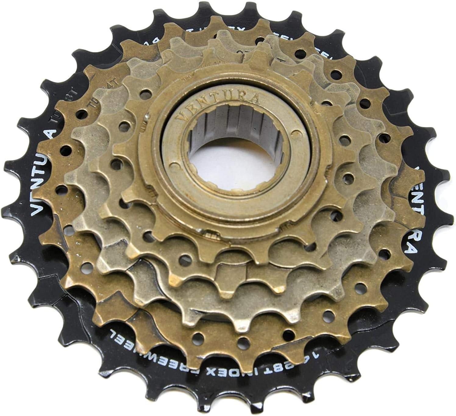 Ventura Bike Bicycle 5 Speed MTB Index Screw On Freewheel Sprocket Cog 14-28T Ammaco