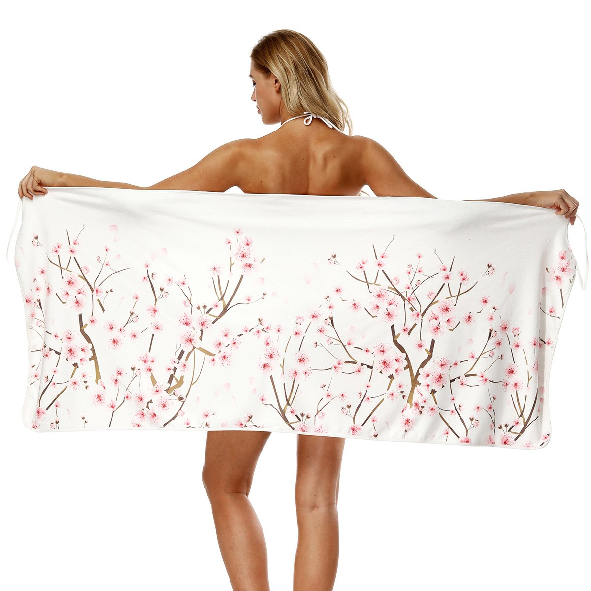 Women Beach Towel Holiday Cover-Ups Sarongs Girls Digital Printing Bikini Swimwear Strap Bath Towel (Watermelon) Crazy lin