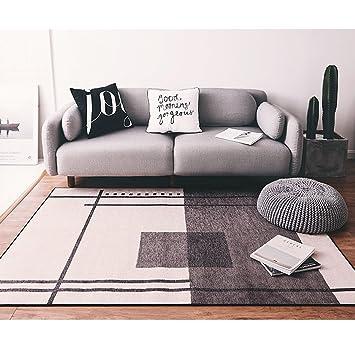 Amazon.de: XUANLAN Designer Teppich Modern mit Contour Muster Grau ...