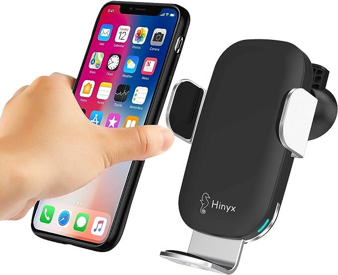 Hinyx Kabelloses Auto Ladegerät Qi 10 W Schnellladung Automatisches Spannen Auto Entlüftung Halterung Handyhalter Für Apple Iphone Xs Max X Xr 8 8 Plus Samsung Galaxy S9 S9 S8 S8 Elektronik